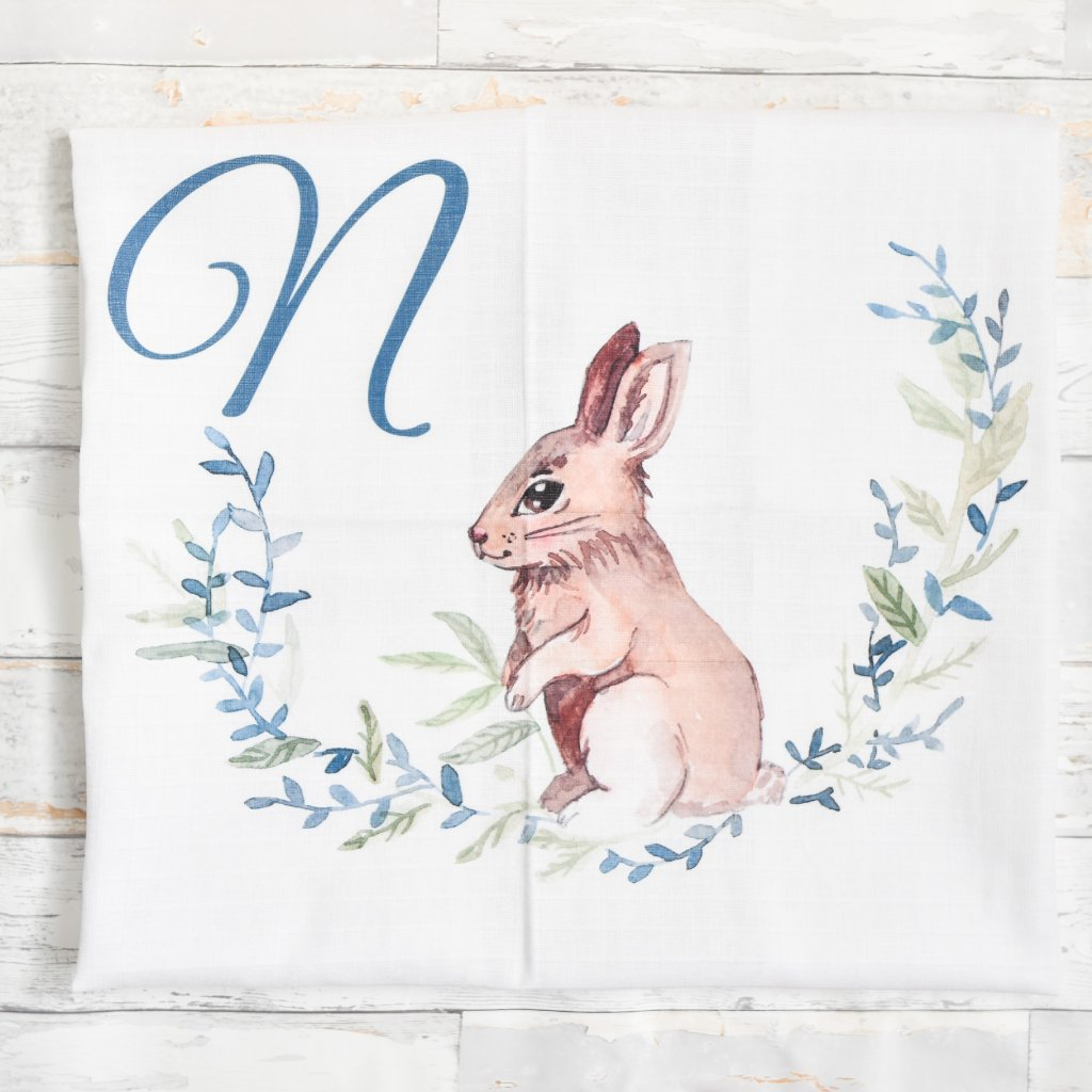 Látková plenka Zajíček - monogram N