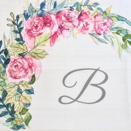 Květiny - monogram B