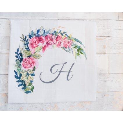 Květiny - monogram H