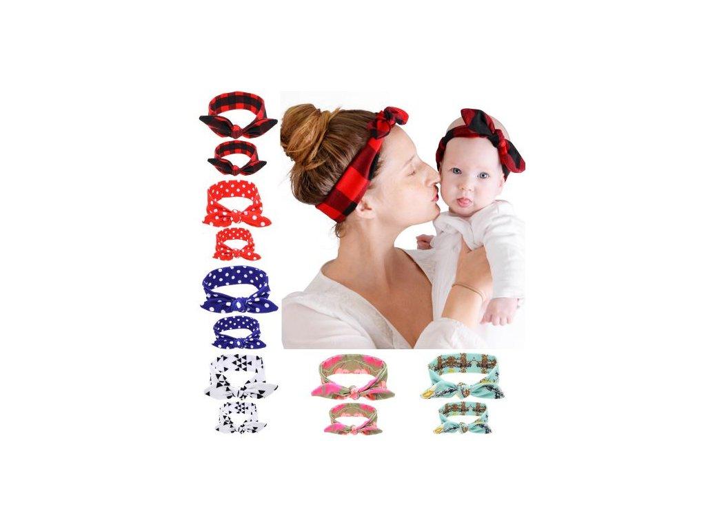 6cf7abc23d0 Sada - 2 čelenky pro miminko a maminku - MAMASVET