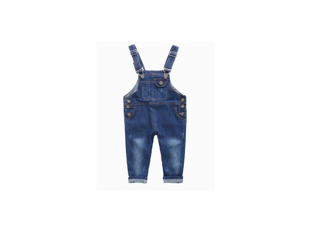 Džínové kalhoty s laclem pro kluky i holky do 8 let - MAMASVET 3dcedca757