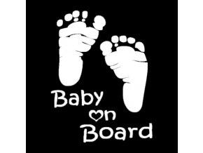 Samolepka na auto Baby on board (Varianta: 2)