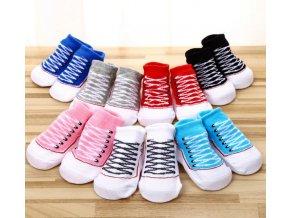 Dětské ponožky se vzorem tkaniček (Varianta: 7)