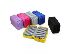 Školní penál 4 patrový - 7 barevných variant