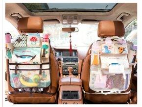 Barevný organizér do auta pro děti - 8 hravých motivů!