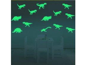 Svítící samolepky na zeď - dinosauři