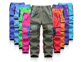 Dvoubarevné softshellové kalhoty zateplené - 5 barev