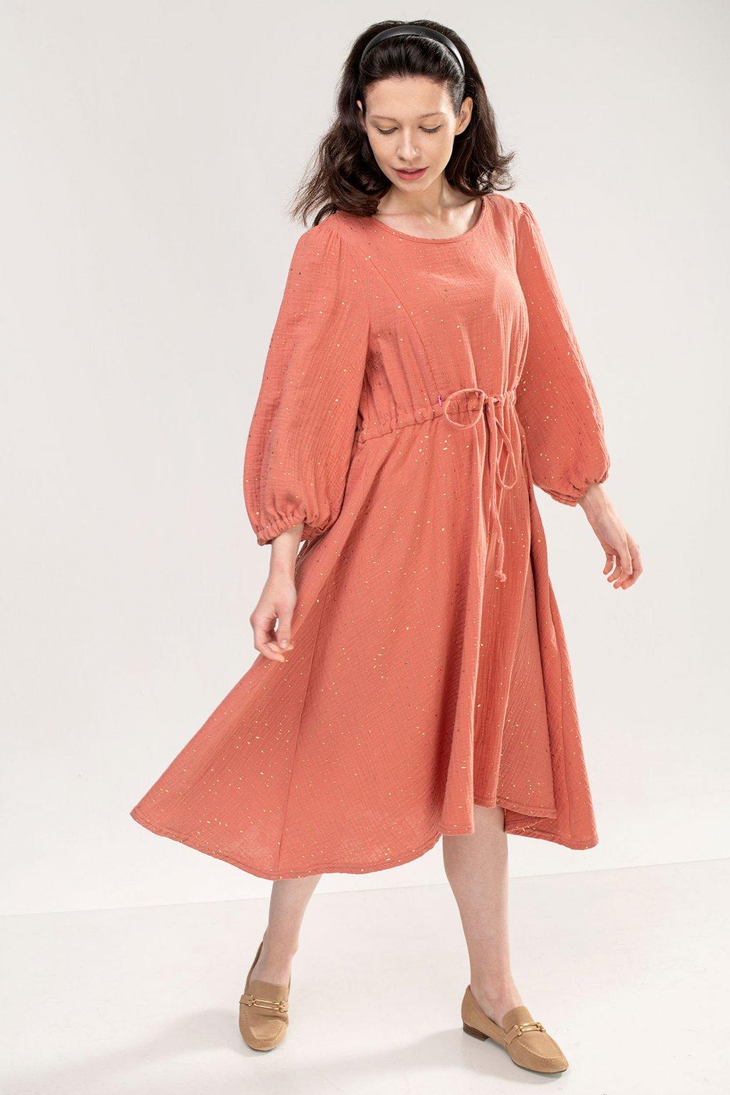 Kojicí Šaty Carmen Terracotta