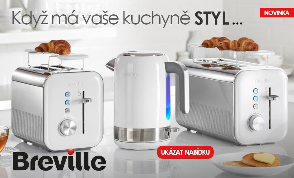Kolekce spotřebičů pro domácnosti značky Breville