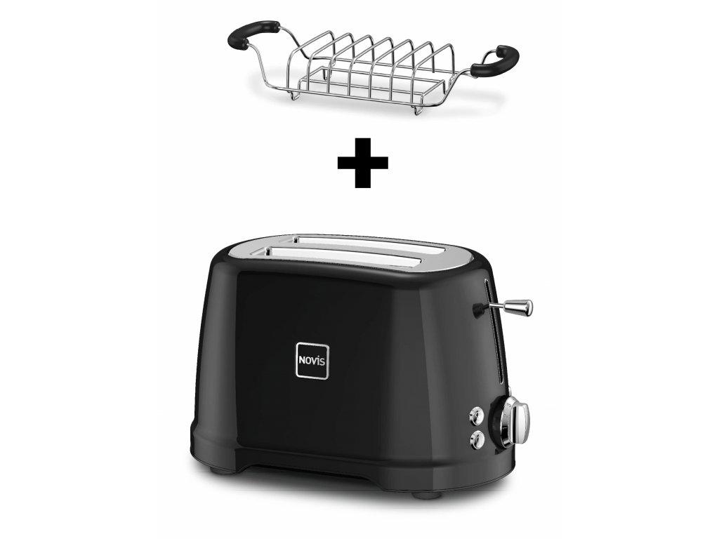 Novis ToasterT2 Brotwaermer schwarz