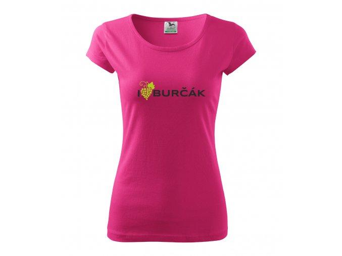 Dámské triko I LOVE BURČÁK purpurové