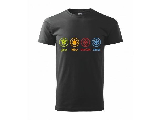 Pánské triko černé 4 roční období