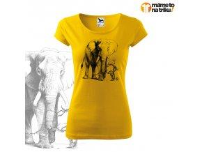 slon perokresba pure žlutá