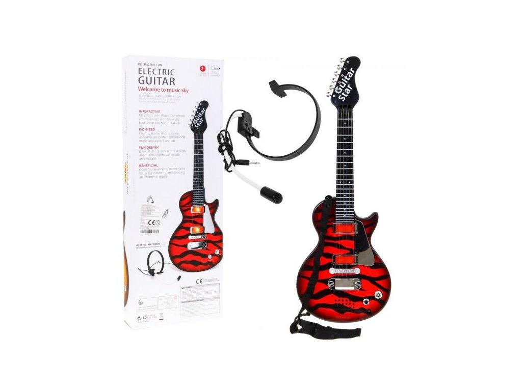Gitara Elektryczna Rockowa Czerwona [38284] 568