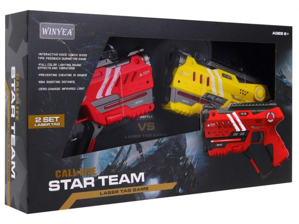 1515 1 laserove pistole cerveno zlute