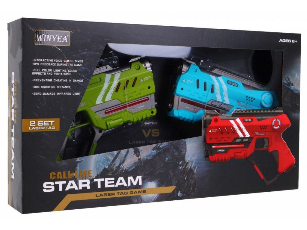 1521 1 laserove pistole zeleno modre