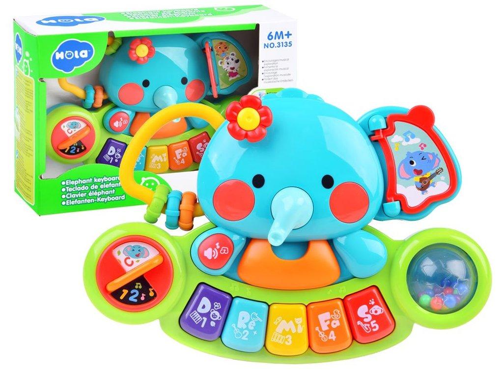 pol pl Pianinko muzyczne slonik kolorowa zabawka ZA3008 14591 6