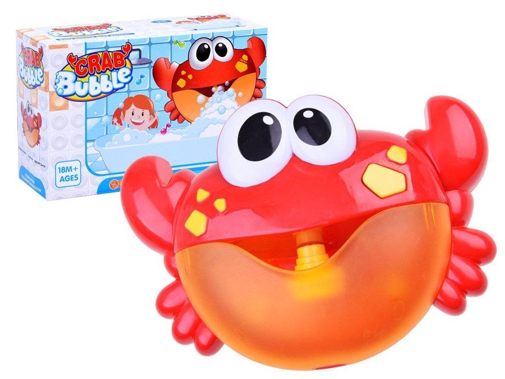 Hračka do vany na tvoření bublin - veselý krab