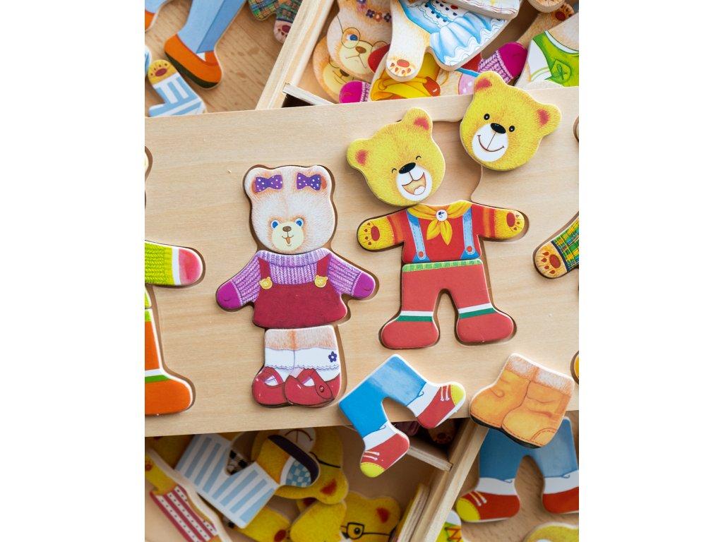 Oblékací puzzle Medvědí rodinka