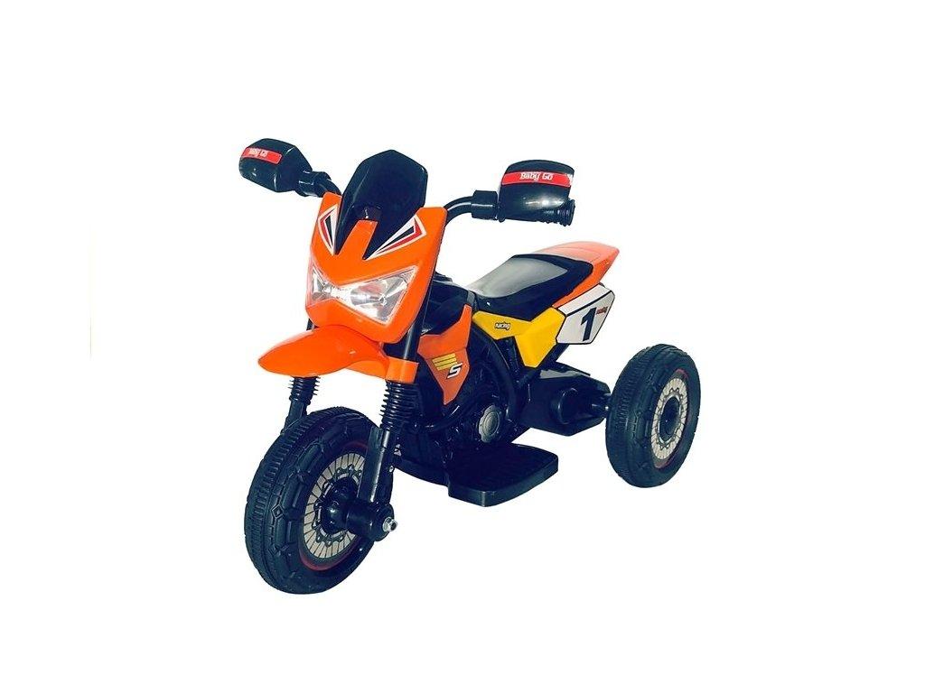 dětská elektrická motorka zelená 1