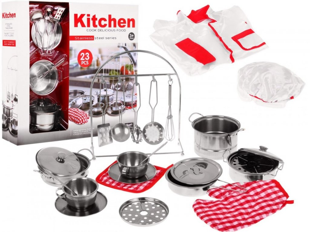 Kuchyňské doplňky malá kuchařská + zástěra 1