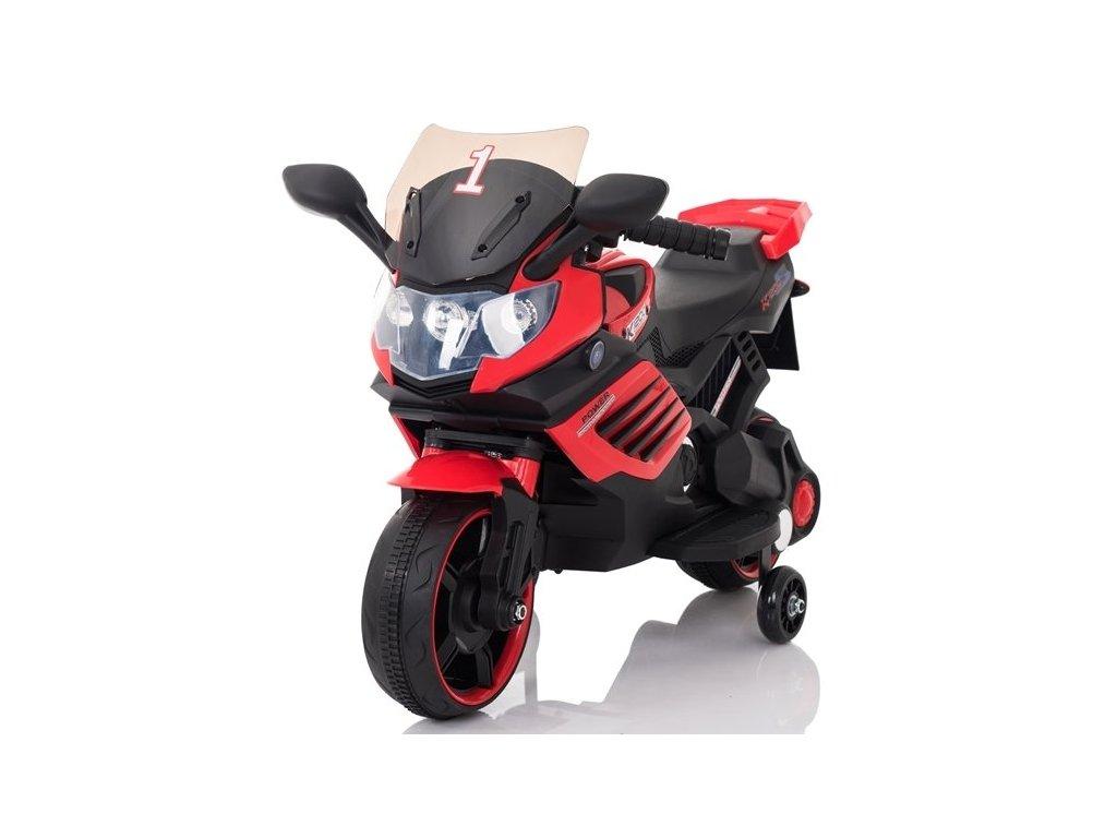 Dětská elektrická motorka LQ158 červená