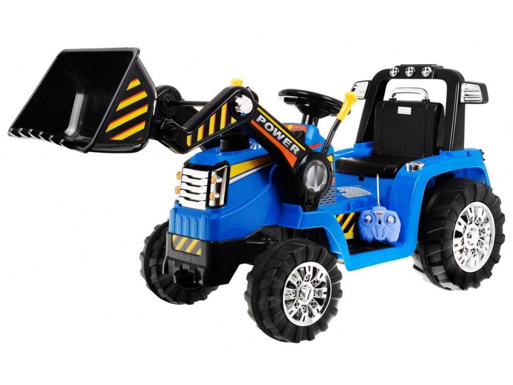 2748 1 detsky elektricky traktor 2x45w modry