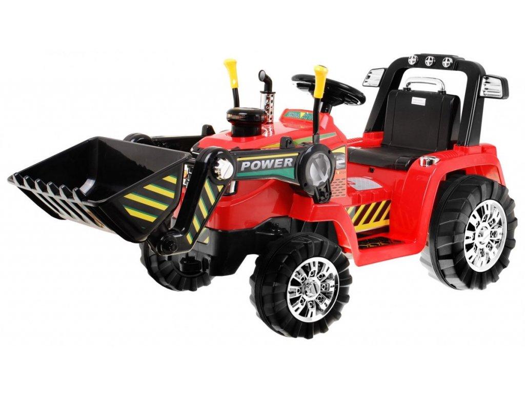 2751 1 detsky elektricky traktor 2x45w cerveny
