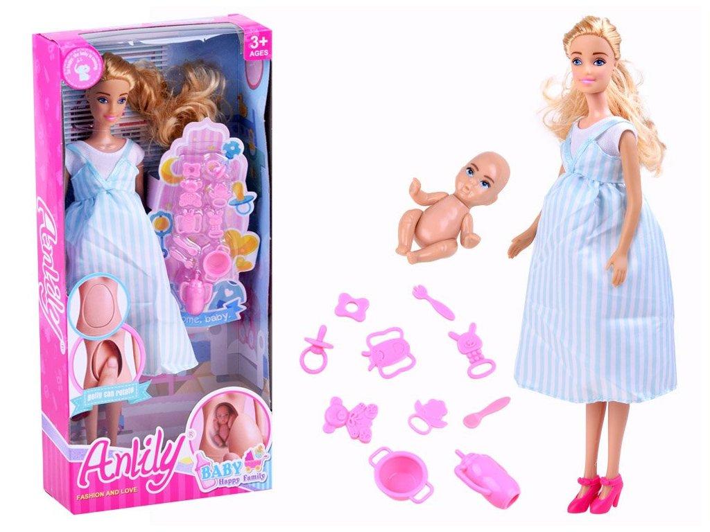 Mamido Dětská panenka s miminkem v brisku (3)