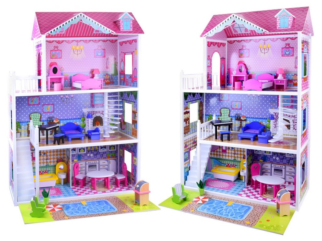 Dřevěný domeček pro panenky XXL 1