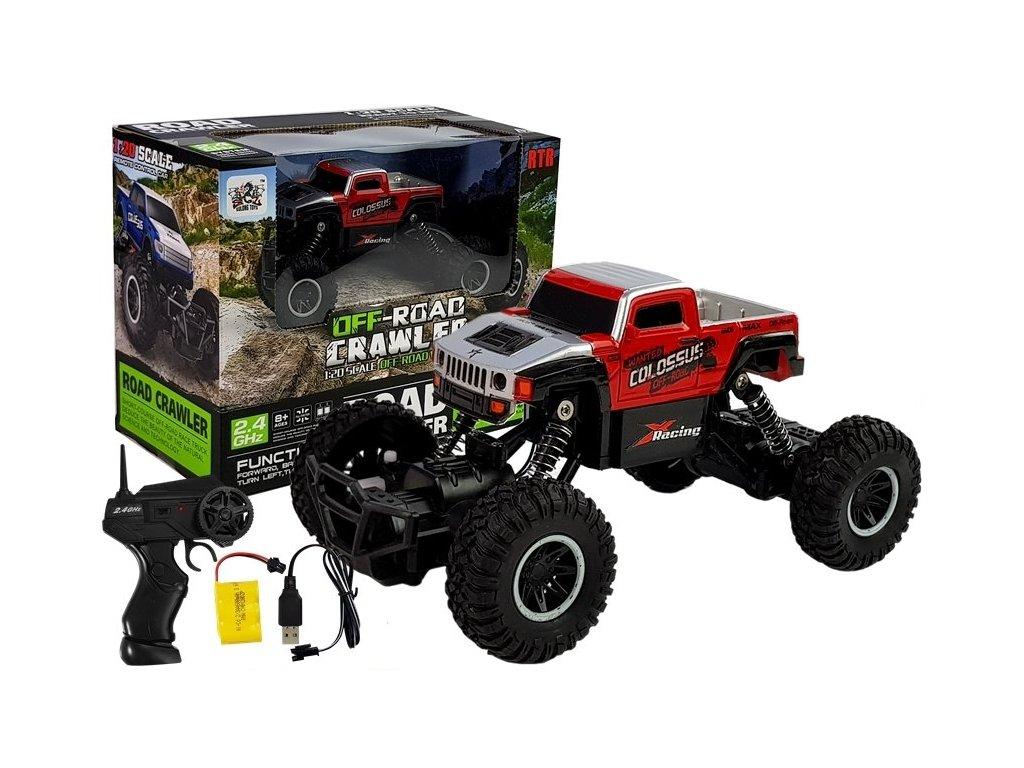 pol pl Monster Truck Zdalnie Sterowany R C 1 20 Czerwony 5050 2