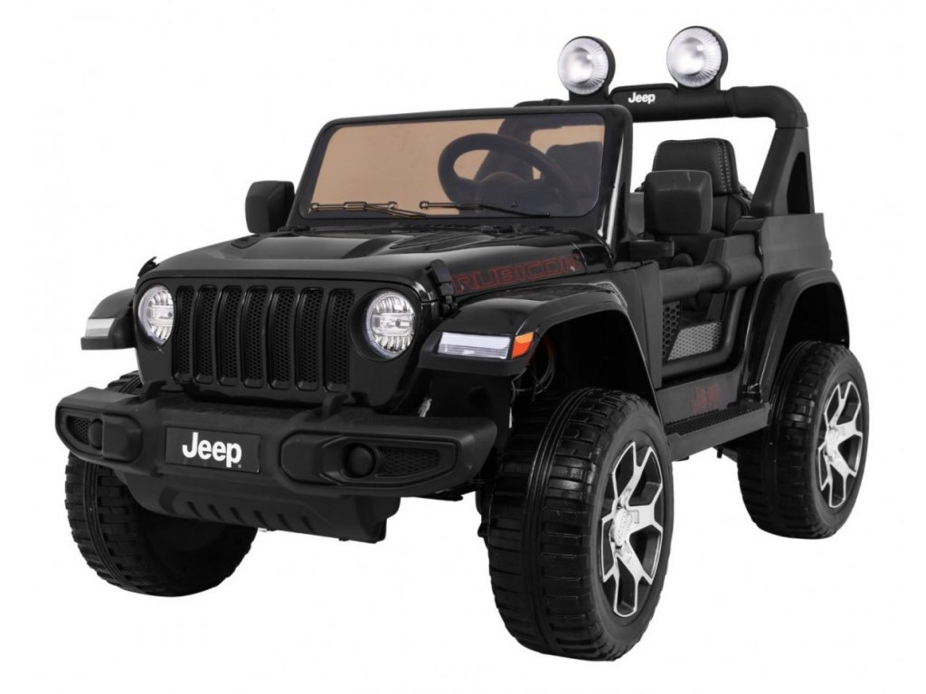 Elektrické autíčko Jeep Wrangler Rubicon 4x4 černé