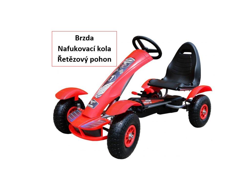 2469 detska slapaci motokara formule cervena