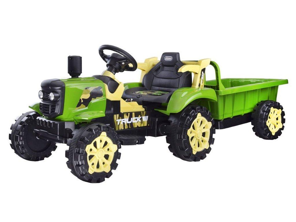 Elektrický traktor s přívěsem7