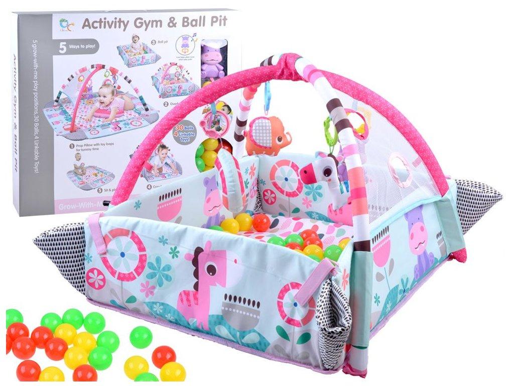 hrací deka růžová (1)