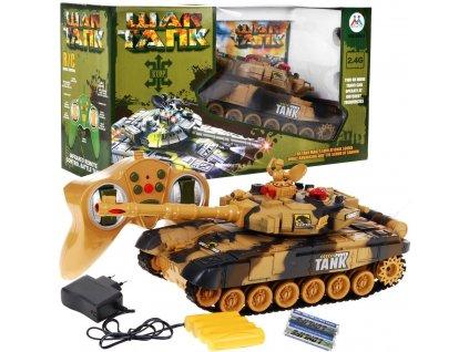 manmido Vojenský tank na dálkové ovládání písečný 1