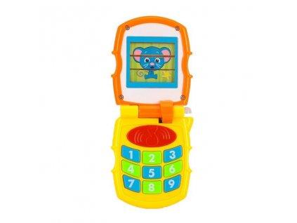 Interaktivní zvukový telefon, hraje a bliká