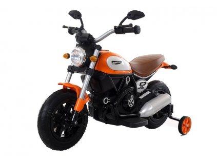 Dětská elektrická motorka QK307 oranžová
