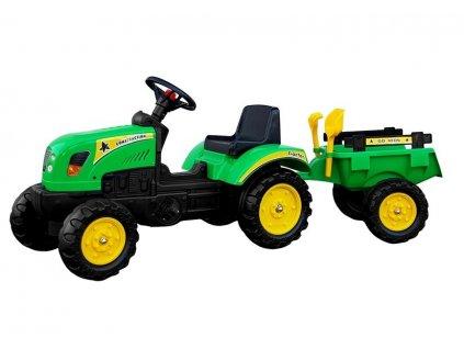 pol pl Traktor Branson z Przyczepa Zielony Pedaly 135 cm 3827 1