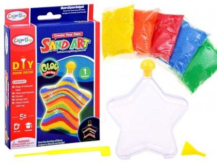 barevný píseek pro tvoření mamido srdce hvězda DIY (10)