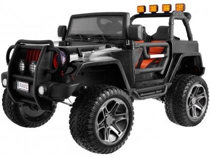 Dětské elektrické auto Jeep Monster 4x4 černý + batoh 1