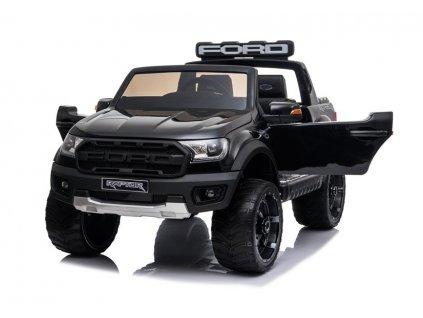 dětské elektrické autíčko ford raptor lakované černé (4)