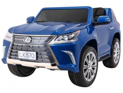 Dětské elektrické autíčko Lexus lakované modré