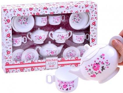čajový keramický set s květinami (2)