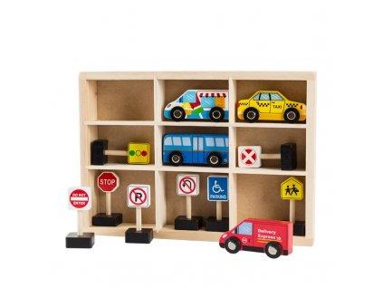dřevěná autíčka s dopravními značkami (3)