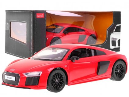 auto na dálkové ovládání audi r8 spyder červené (2)