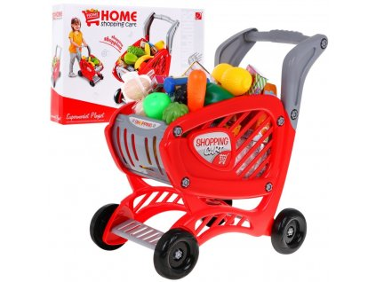 velký nákupní vozík s potravinami do dětské kuchyňky (3)
