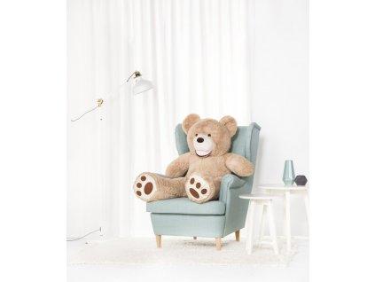 Velký plyšový medvěd Amigo béžový 130 cm