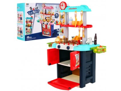 Dětská kuchyňka oboustranná s vybavením