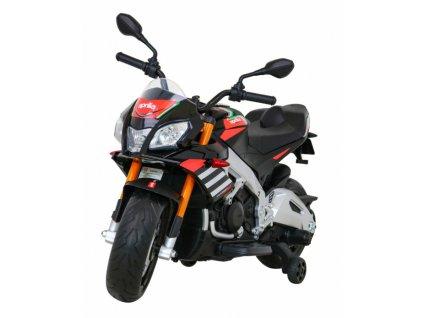 Dětská elektrická motorka Aprilia Tuono V4 černá (1)